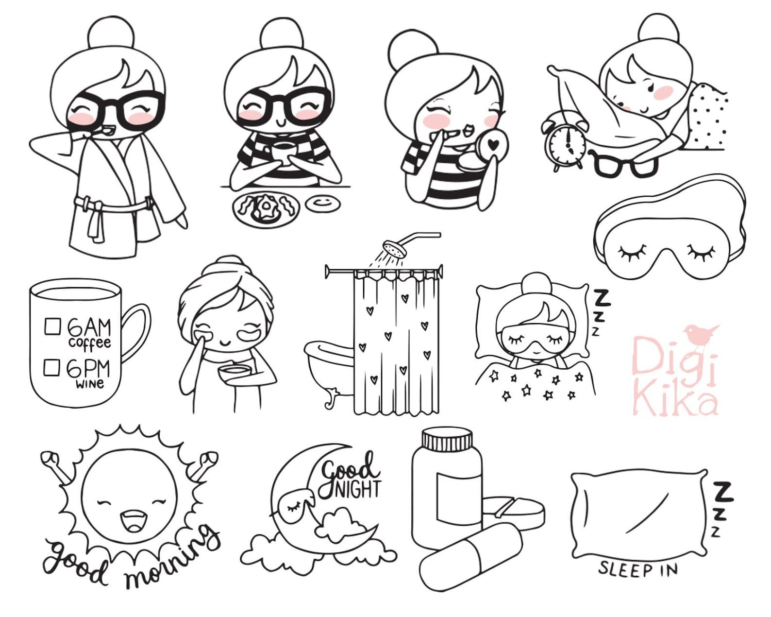 картинки стикеры для ежедневника распечатки черно белые нори популярная корейская