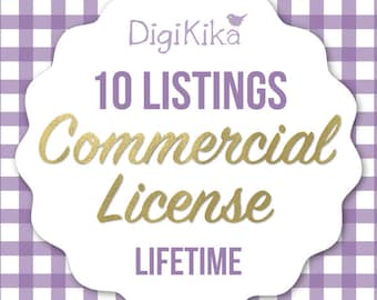 Commercial License - 10 Listings - No Attribution Commercial Use