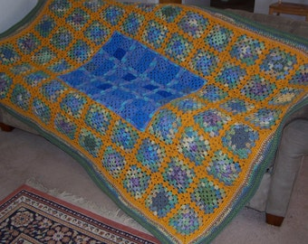Sandy Shores Granny Square Afghan
