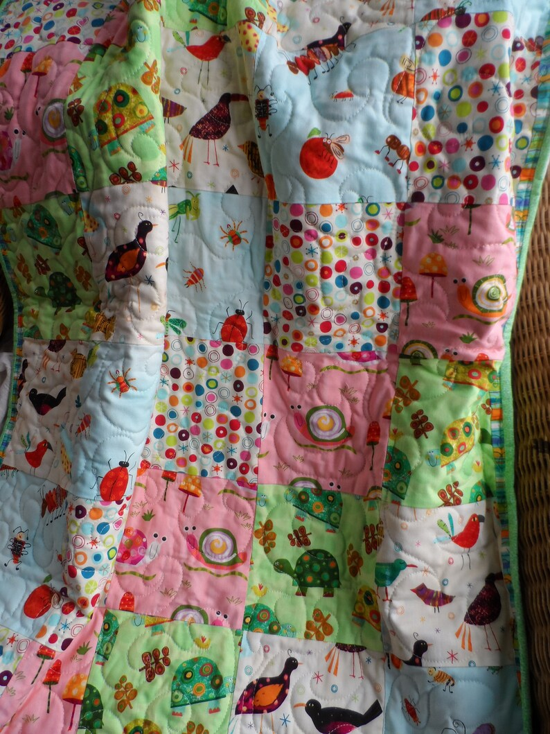 Baby quilt stroller quilt for boy or girl