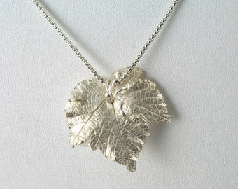 2x Dark Silver Tone Large Grape leaves Charms Pendants Jewellery DIY Finding