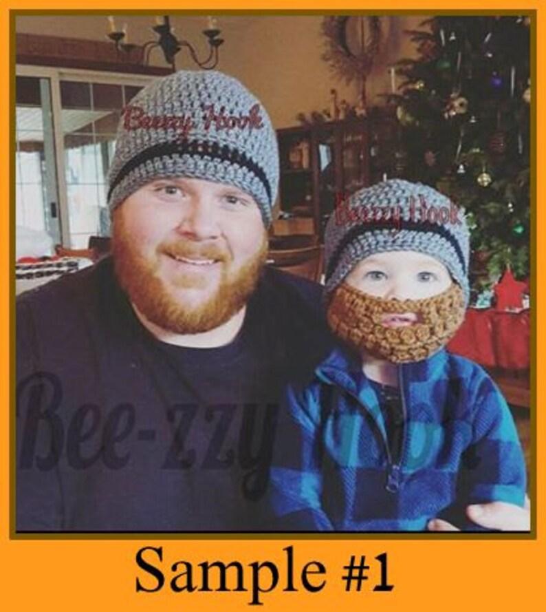 d740443c2fd Crochet Beard Hat Like father Like son custom