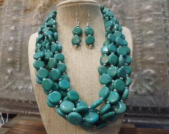 Turquoise Jewelry   Turquoise Earrings   Luxury Jewelry   Blue Jewelry   BOHO Jewelry   Southwest Jewelry   Beaded Jewelry, Handmade Jewelry