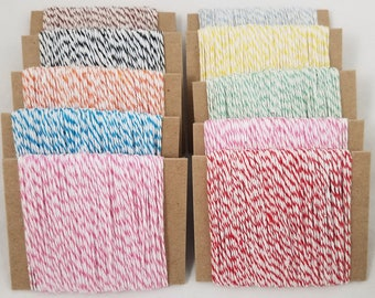 Baker's Twine 250 Yards Total - Multiple Colors in 25 Yards Each