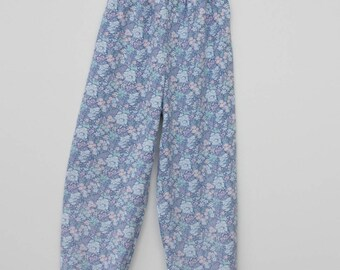 Upcycled Ditsy Print Kids Trousers