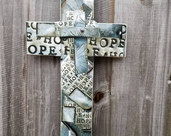 Wall cross + Hope upon Hope + collage + hope + one of a kind