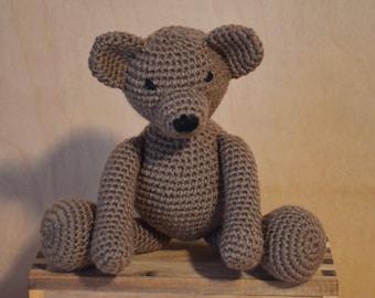 Teddy Bear, Brown Bear, Bear Plushie, Crochet Bear, Handmade Bear