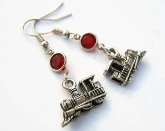 Steam Engine Stud Earrings Silver Railway Jewellery Handmade Steam Train Jewellery Railway Stud Earrings Silver Train Earrings