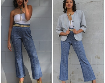 Vintage 70s bell bottoms pants flares Beeline S/M