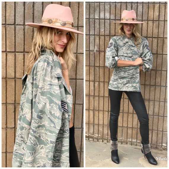 Military jacket camouflage camo cool S M
