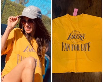 Vintage Lakers Graphic T shirt tee S M -LA lakers