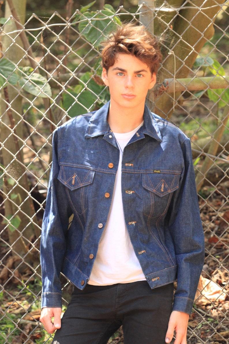 8c451c03 Vintage 70s Wrangler Denim Jeans Jacket Mint Festival cool M | Etsy