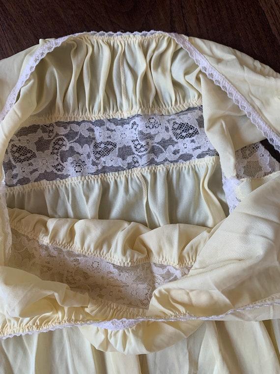 70s Butter Yellow Slipdress maxi goddess dress la… - image 6