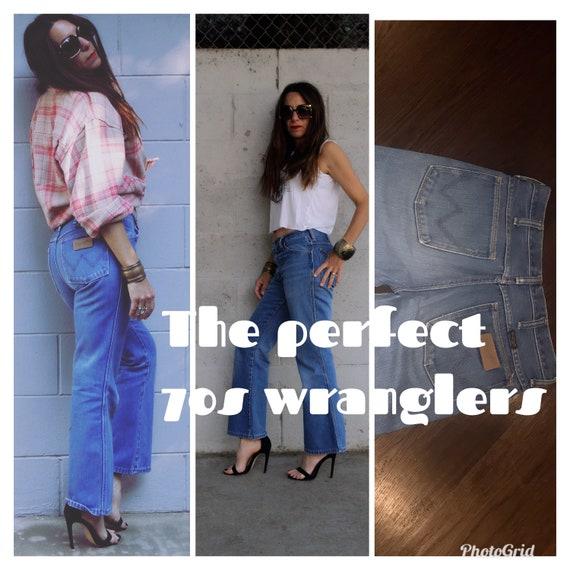 Vintage 70s Wrangler Jeans Denim Bell Bottoms Flar