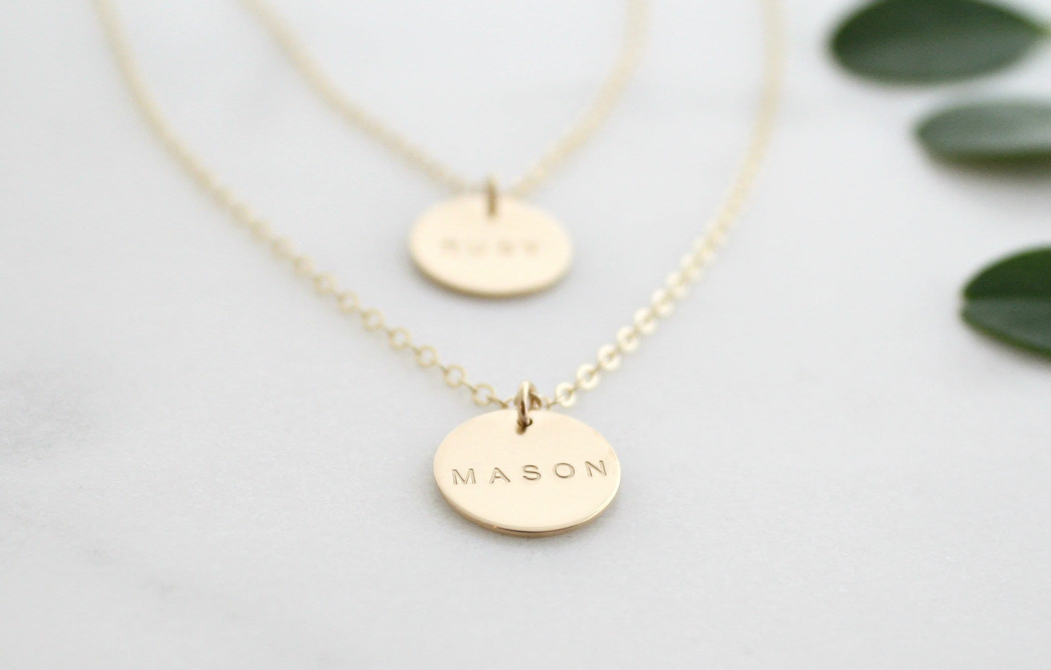 Circled Brass Necklace Anniversary Gift 14 carat gold filled necklace Dangle Necklace Geometric Necklace Stylish Necklace-Women fashion