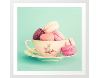 Macaron, macarons, macaroon, framed wall art, canvas art, wall art canvas, girl nursery decor girl, macaroons, art, print, large wall art