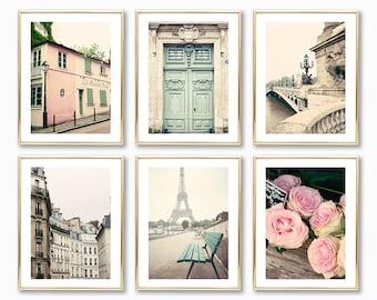 Paris photography prints Paris wall art prints gallery wall set travel prints blush pink wall art Paris prints Europe France floor ceiling