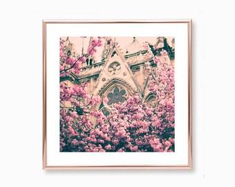 Cherry blossom art, mothers day gift, Paris wall art, extra large wall art, Paris photography, Paris print, wall art canvas, Paris decor