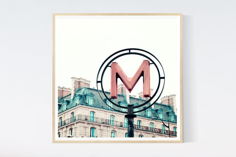Dorm wall art, dorm decor, pink wall art prints, Paris photography prints,  Paris wall art, Paris prints, wall art canvas art, large wall art