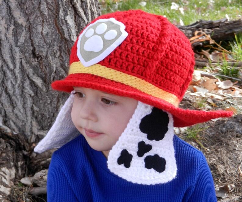 Paw Patrol Marshall Crochet Hat Pattern 6b3cb1c7fda
