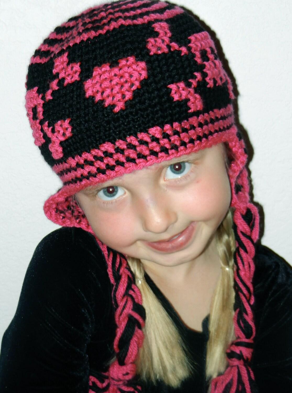 Crochet Hat Pattern Girl Skull Crochet Hat Pattern Instant Etsy