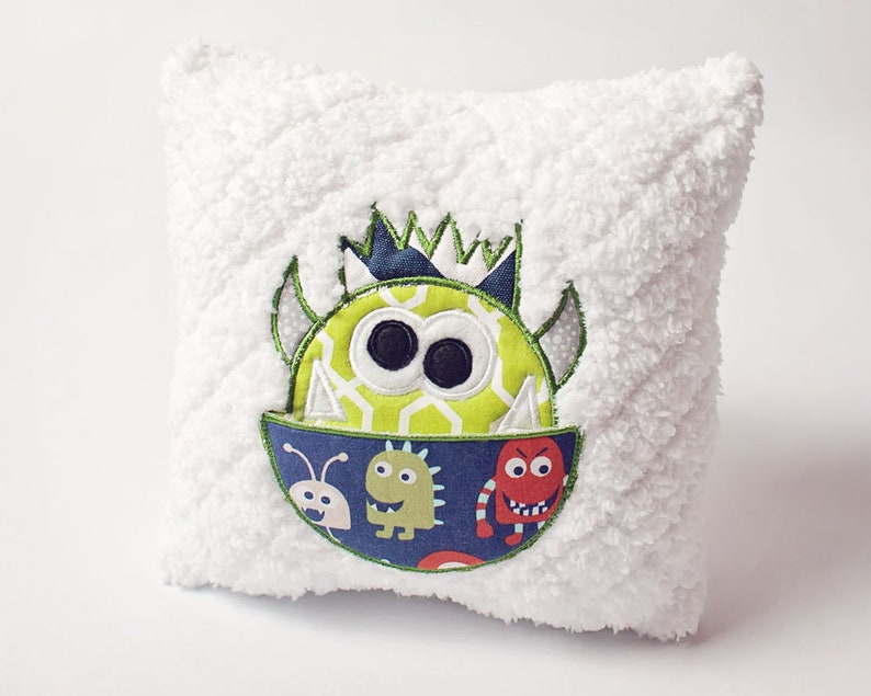 Boy Tooth Fairy Pillow  Friendly Monster Design  Soft image 0