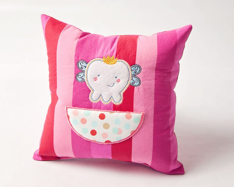 Tooth Fairy Pillow  Soft Embroidered Pillow  Tooth Fairy image 0
