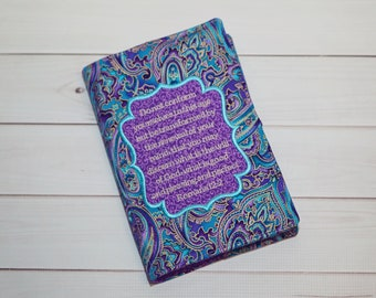 Embroidered Bible Cover - Bible Verse - Custom Bible Case - Scripture / Book Cover - Personalized Bible Cover - Journal Cover - Gift for Her