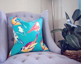 Boho Birds - Pillow Cover / Envelope Style Throw Pillow - 20x20 - Cover Only - Bohemian Vibes - Home Decor - Accent Pillow - Boho Decor