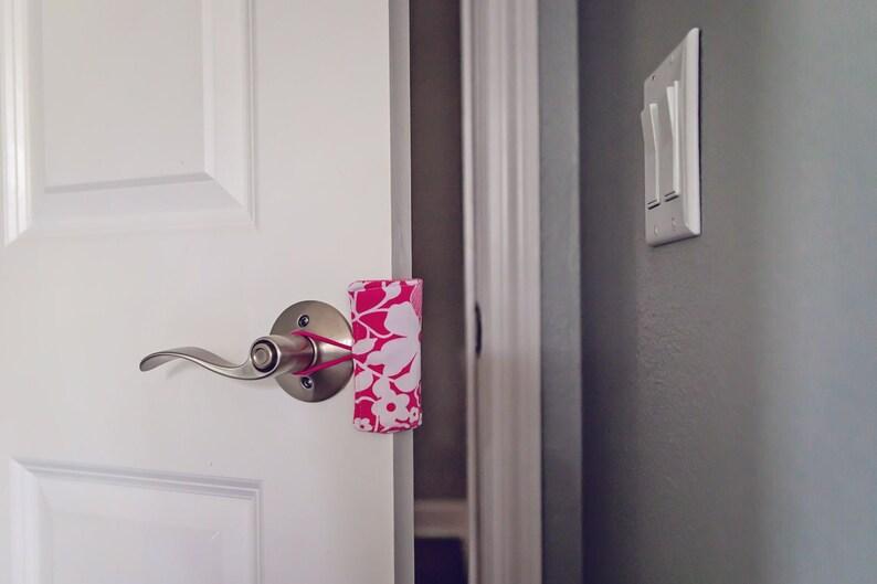Door Latch Cover / Door Jammer / Door Cushion  Nursery Decor image 0