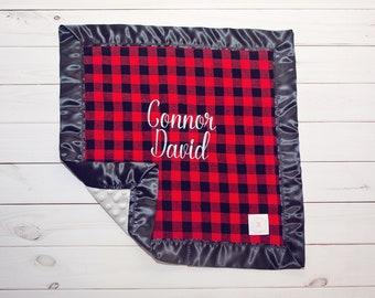 Baby Lovey - Baby Blanket - Baby Shower Gift - New Baby Boy Gift - Security Blanket - Baby Gift - Embroidered Blanket - Monogram Option