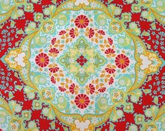 Joel Dewberry Fabric - 1 Fat Quarter Notting Hill - Kaleidoscope in Poppy