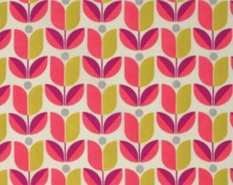Joel Dewberry Fabric - 1/2 Metre FLORA, Tulip in Poppy