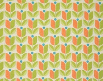 Joel Dewberry Fabric - 1/2 Metre FLORA, Tulip in Carrot