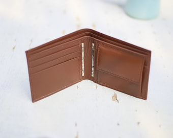Leather Wallet, Mens Wallet With Coin Pocket, Brown Wallet, Coin Wallet, Money Wallet, Slim Wallet, Billfold Wallet, Men Leather Wallet