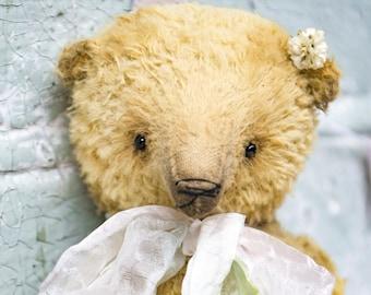 Artistic teddy bear OOAK, collectible bear, vintage toy