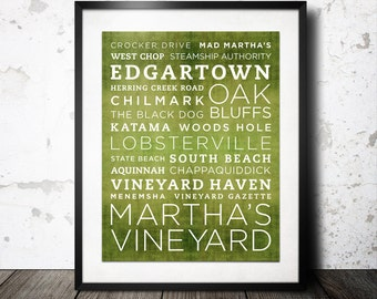Martha's Vineyard Poster - 11x14