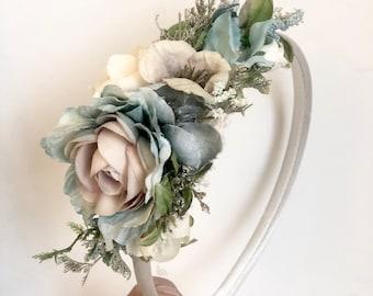 Rain floral crown- flower crown- Wedding Flower crown- Well dressed wolf naomi rain- flower girl headband