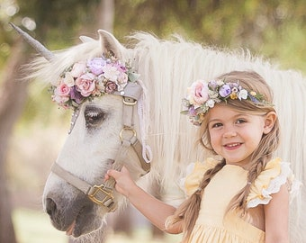 Soft pastel unicorn photography prop set