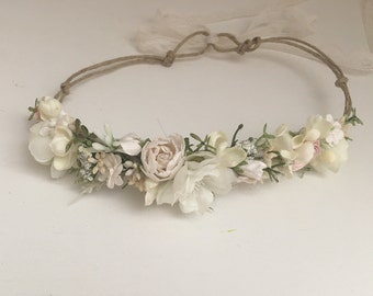 Off white flower crown