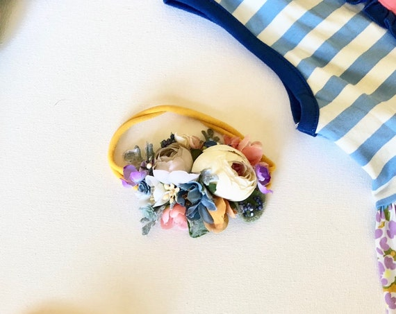 baby flower crown- baby girl headbands, matilda jane headband, birthday headbands