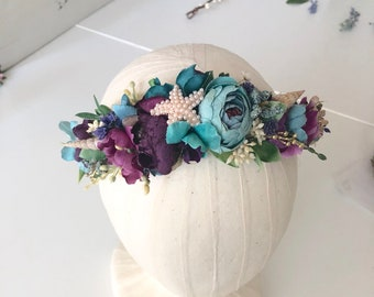 Mermaid Starfish Flower Crown