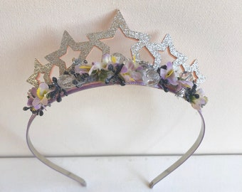 Star crown- Star birthday- Star headband- Well Dressed Wolf- Bridal flower crown