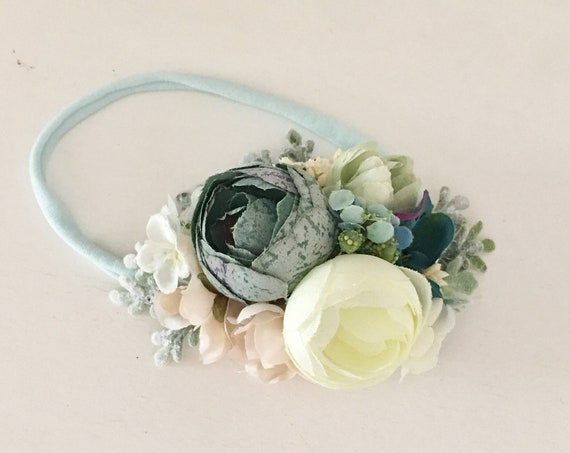 Floral headband- Well dressed wolf Flora Fairy- Flower crown- Floral crown- - Flower Girl- Spring Wedding-  -tutu du m
