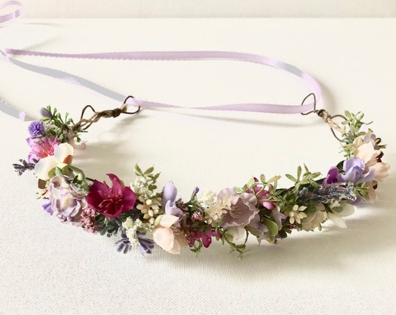 French Lavender flower crown