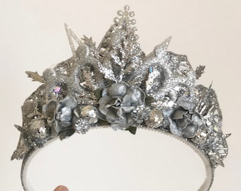 Silver Crown Headband
