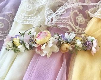 Pretty princess flower crown