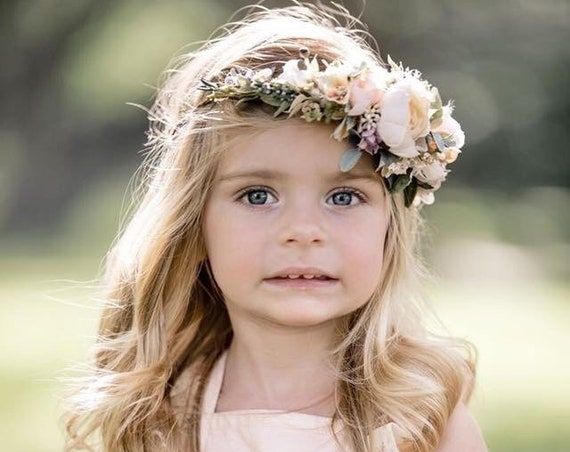 Flower Crown- Baby flower crown- Flower Girl Headband- Mommy and me flower crowns halo