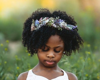 Dried Flower Crown- Floral Crown- Baby Flower Crown- Bridal Flower Crown