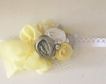 Lemon headband- Baby Girl Headband- Baby Headband- Wdw Headband- Whim and Wander- Newborn Headband- Infant Headband- Couture Headband